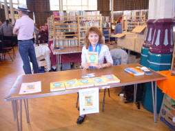 Dr Irina with her eating disorders books in the UK 2009